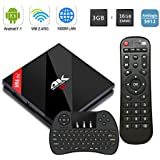 H96 Pro Plus 3G RAM+16G ROM Android 7.1 TV Box Amlogic S912 Octa-Core 4K Ultra HD TV Box Support Dual Band WiFi 2.4 GHz/5.0 GHz Ethernet 1000M and Wireless Mini keyboard