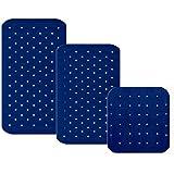 casa pura® Wanneneinlage Relax | mit Massagenoppen | königsblau | schadstoffgeprüft | als Badewanneneinlage und Duschmatte erhältlich | 3 Größen (75x35 cm)