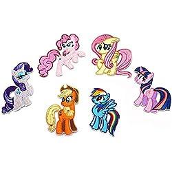 Fsmiling My Little Pony Toppe per Vestiti Termoadesive Bambini