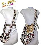 Tasche Totenköpfe, für Mädchen, für Snacks oder Spielzeug. und kleine Hundetransporttasche bis 3 Kgr. Waschbar Handarbeit