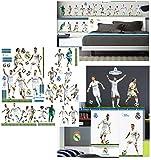 alles-meine.de GmbH 66 Stück: XL Wandsticker _  Fußball Mannschaft - Real Madrid - Club de Futbol..