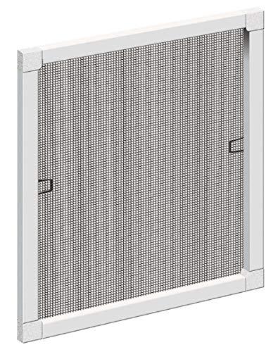 Schellenberg 50788 Insektenschutz-Fenster Plus, Fliegengitter mit Rahmen, Weiß, 140 x 150 cm