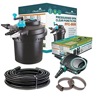 All Pond Solutions PFC-8000 Koi Fish Pond Pressurised Pond Filter All in One