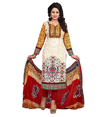 The Style Pure Cotton Cream and Yellow Color Digital Printed Salwar Kameez...