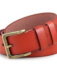 AQAQ Hombre Cuero Sintético Cinturón De Cintura Vintage / Fiesta / Trabajo / Casual Todas Las Temporadas , Orange , Xl