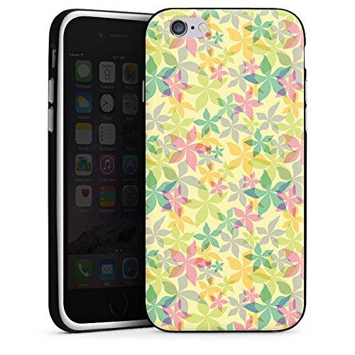 Apple iPhone X Silikon Hülle Case Schutzhülle Bunt Muster blumen Silikon Case schwarz / weiß