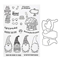 ULTNICE 1 Set Christmas Clear Stamp Xmas Cutting Dies DIY Scrapbook Metal Die Cuts Stamp for Xmas Craft Art Cards Making Decoration