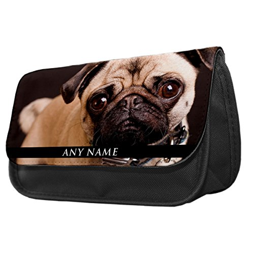 Personalizzato CANE CARLINO II animale Astuccio/Make Up Bag 243 - Gift Bag Dog