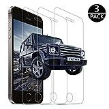 [3 Stück]iPhone Se 5 5S 5C Panzerglas Schutzfolie, VicTora Displayschutzfolie 9H Härte,3D Touch...