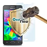 MoEx OneFlow 9H Panzerfolie für Samsung Galaxy Grand Prime Panzerglas Display Glasfolie [Tempered Glass] Screen protector Glas Displayschutz-Folie für Samsung Galaxy Grand Prime Schutzfolie