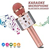 BETECK Drahtloses Mikrofon Karaoke Bluetooth Aufnahme KTV Tragbar und Handrufen Kompatibel iPhone Android Smartphone iPad PC (001)