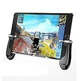 jgashf Controlador de Juegos móvil Asamblea Desmontable disparadores de Teléfono móvil, Control de Sensibilidad de Tiro Joysticks Gamepad con Gaming Trigger