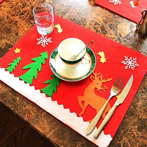 SPFAZJ Weihnachten Tisch Dekoration Dekoration Weihnachten Tischdekoration Neue Weihnachten Tabellen Mat Weihnachten Besteck Ma T-Weihnachten-Haushaltswaren