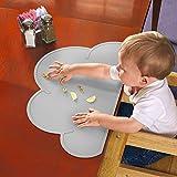 Wasserfestes Silikon-Tischset für Baby, matt, Antibiose-Geschirr, Lebensmittelqualität grau