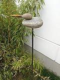 Zen Man para jardín (Acero Inoxidable óxido de Escultura de jardín de Piedra Jardín Figure Mano H120* 16* 8cm 101587