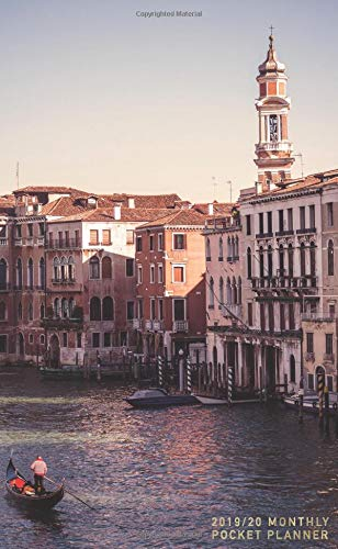2019-2020 Monthly Pocket Planner: 24 Month Agenda Beautiful Venice at Sunset