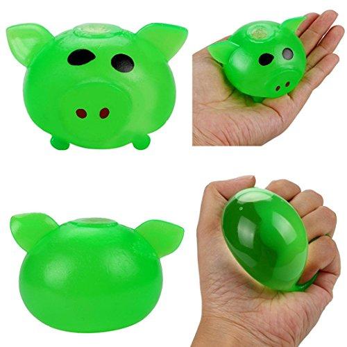 HKFV 1 Stück Anti-stress Splat Ball Vent Spielzeug Smash Verschiedene Stile Schwein Spielzeug Entzückende Kreative entlüftungsöffnung schwein schwein tricky vent vent spielzeug (Grün)