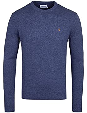 Farah Rosecroft Dusky Blue Lambswool Sweater-XXL
