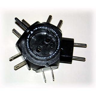 Reisestecker-Adapter, 16A/250V, schwarz