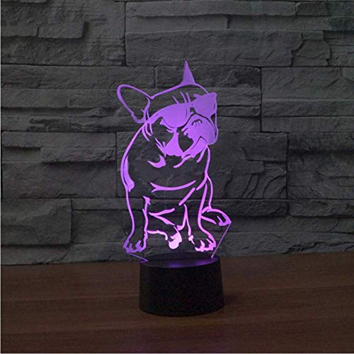 7 Farbwechsel Farbverlauf Kind Nachtschlaf Nachtlicht Luminarias Cartoon Mit Brille Cool Dog Touch Button Lampe Baby Geschenke