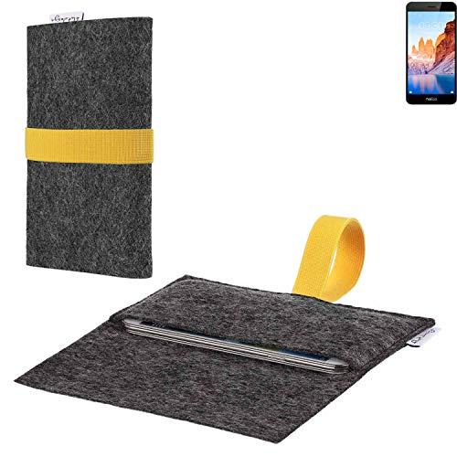 flat.design vegane Handy Hülle Aveiro für TP-LINK Neffos C7A passgenaue Filz Tasche Case Sleeve Made in Germany
