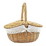 art decor Picknickkorb mit Griff, Bügelkorb, Weidenkorb, Höhe ca. 29 cm