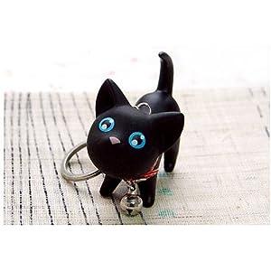 Gleader Llaveo Diseno de Gato, Buen Regalo (Negro) de Gleader