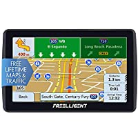 FREELLIGENT SAT NAV GPS Navigation 7 inch HD Universal GPS Smart Voice Reminder 8 GB ROM 256 MB Global Navigation Satellite System - Newest Map + Lifetime Free Updates