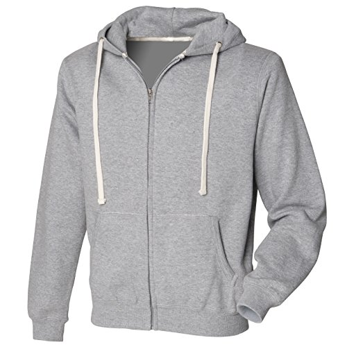 Zip attraverso hoodie Heather Grey