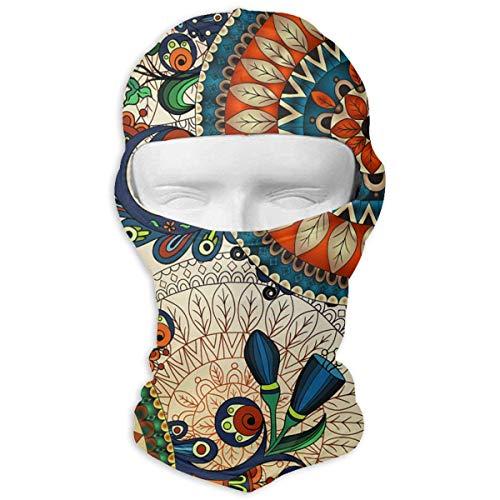 Jxrodekz Indisches ethnisches Muster windundurchlässige staubdichte Gesichtsmaske UV-Präventionshaube-Hut - Mop Indische