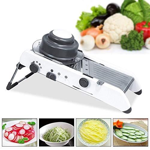 Vruta Adjustable Mandoline Slicer Kitchen Stainless Steel Manual Cutter Shredder Julienne for Slicing Food Fruit Vegetables