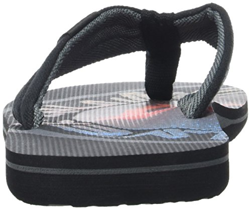 Quiksilver Molokai Layback, Tongs Homme Multicolore (BLACK/BLACK/RED)
