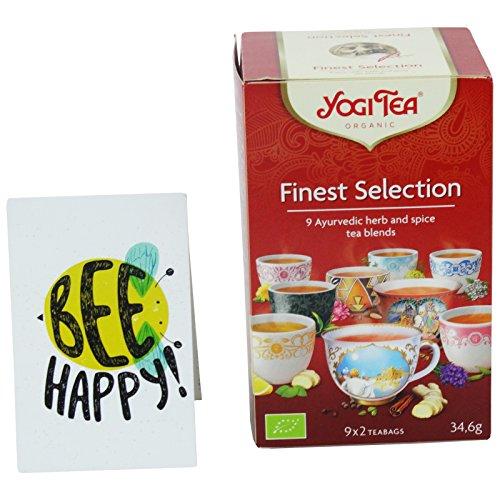 Yogi Tea - Set de Dégustation de 9 Infusions Biologique - Classic Gingembre Citron Detox Chaï Doux Équilibre Féminin Bonne Nuit Réconfort de la Gorge Choco Énergie du Thé Vert