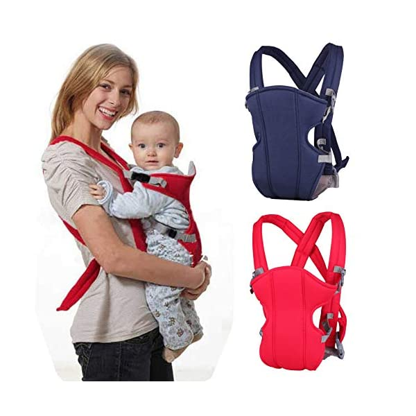 Kasstino Infant Front Facing Slings Breathable Pouch Wraps Carriers Backpacks Suspenders (Red) Kasstino A great way to carrying baby, keep kids close and safe at hands, in crowds, or during family outings Double layer at the bottom of the pad design more take care of the baby small buns Portable, breathable, folding, really practical. Easy to put on and take off 9
