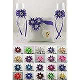 Hochzeit Set - mit Name und Datum, verschiedenen Farben.