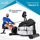 skandika Nemo II Aqua Rower Liquid Rowing Machine with Adjustable Water Resistance & LCD display, Foldable, SF-1750
