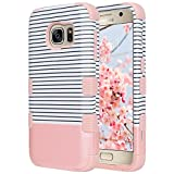 ULAK Galaxy S7 Case, S7 Case Luxury Hybrid 3 Layer Silicone