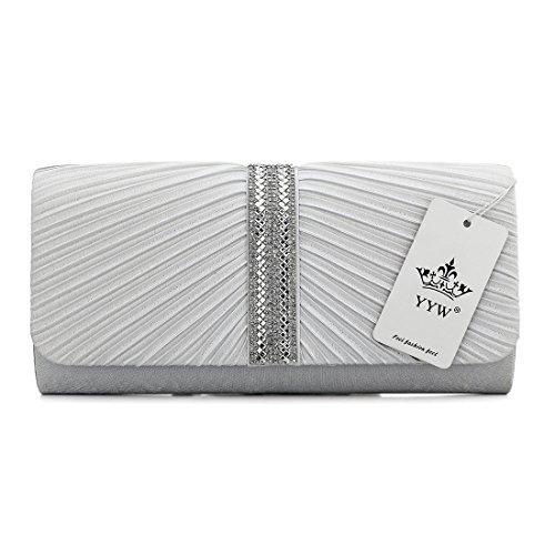 YYW Evening Bag, Poschette giorno donna White