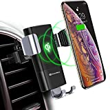 DesertWest Wireless Charger Auto Lüftung Qi Ladestation 2 In 1 Wireless Kfz Ladegerät 10W Induktive Ladestation für Phone XS 8 8 Plus, Samsung Galaxy Note 9 S9 S9 Plus S8