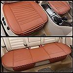 513f5eSXcRL._SS150_ HONCENMAX Auto Sitzauflage Sitzkissen Universal Sitzauflagen Autositzbezüge - BambusKohle PU Leder - [Ohne Rückenlehne] 2+1 Vorder und Rücksitzbezüge