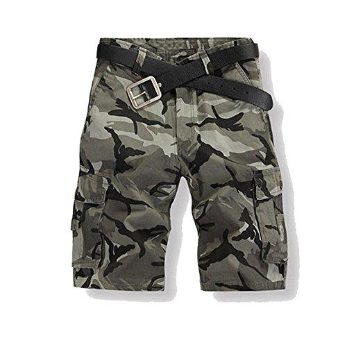 Just No Logo Herren Cargo Shorts kurze Hosen Camo Bermuda Bundhose, Grau,XL/38