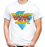 Bionic Six Männer und Herren T-Shirt | Die Sechs Millionen Dollar Familie ||| (M, Weiß)