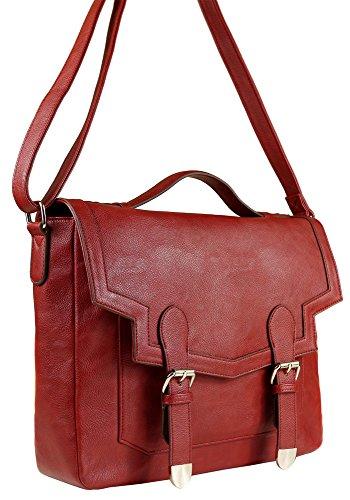 Missco Girl, Borsa a tracolla donna Rosso (Borgogna)