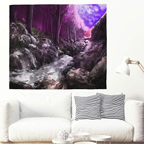 Wandteppich Wald Natur Landschaft Wand Hängen Kirsche Wand Kunst Fluss Wand Deko Baum Wand Wand Hängend Psychedelic Home Decor Für Wohnzimmer Schlafzimmer