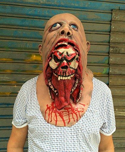 Übelkeit Zombie Horror Rotten Zombie Maske Halloween Spuk Haus Requisiten Zombie Kopfbedeckung