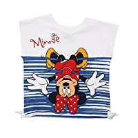 Disney Girl's Minnie Mouse-Upside Down-Kid T-White Track Jackets, White (White), 4-5 Years (Manufacturer Size:Small)