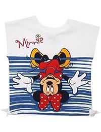 Disney Minnie Mouse-Upside Down-Kid T-White, Survêtement Fille