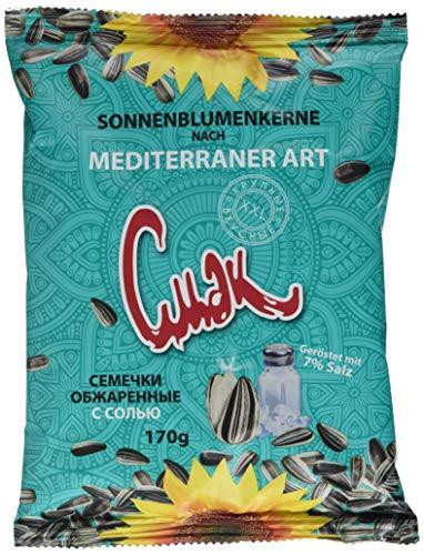Dovgan Sonnenblumenkerne mediteraner Art, 10er Pack (10 x 170 g)