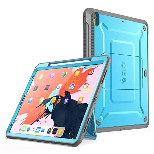 SupCase iPad Pro 12.9 Hülle Support Pencils Laden 360 Grad Case Bumper Schutzhülle Cover [Unicorn Beetle PRO] mit eingebautem Displayschutz und Ständer für iPad Pro 12.9 Zoll 2018 (Blau)