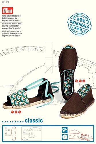 Classic Espadrilles (PRYM Anleitung, Videos, und Nähen Muster für Espadrilles & # 39; Classic & # 39;–Jeder + Frei Minerva Crafts Craft Guide)